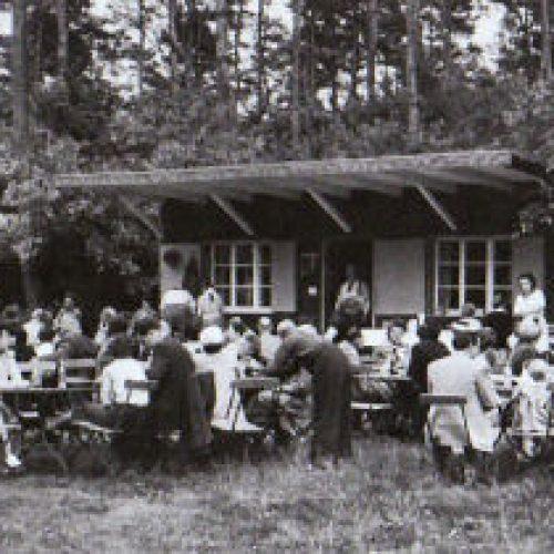 Einweihung des Übungsplatzes mit Vereinsheim am 24. Juli 1949